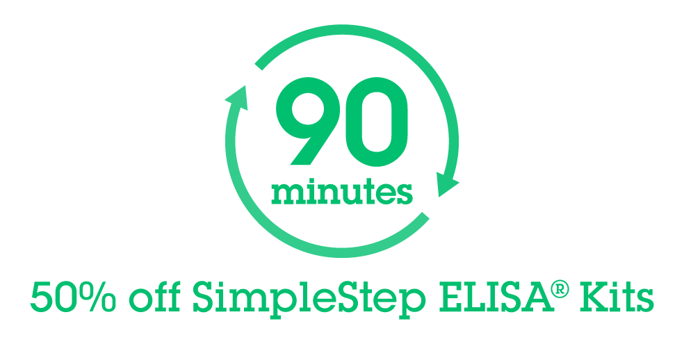 お試しキャンペーン 50% off SimpleStep ELISA® Kits